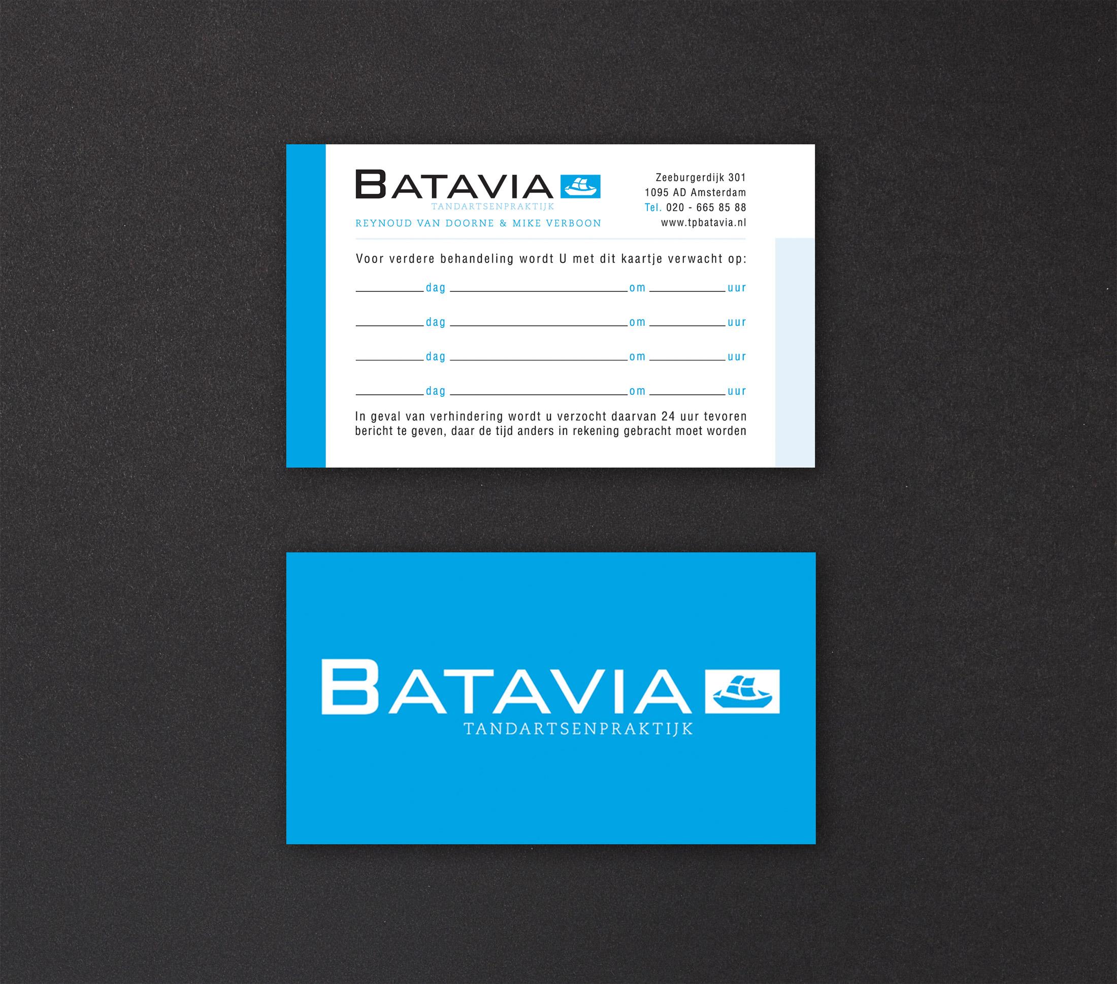 Batavia-Afsprakenkaartje