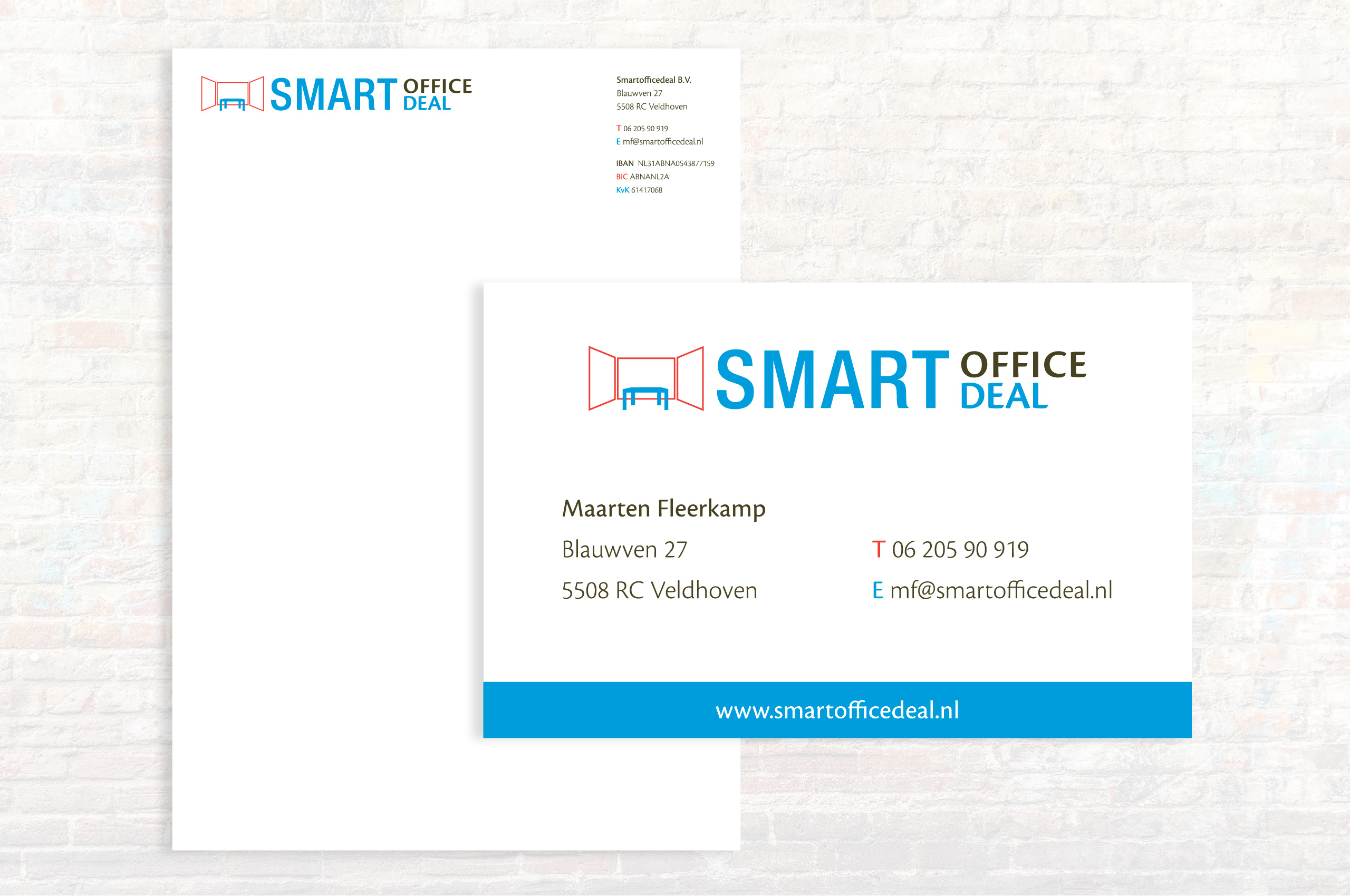 Smart Office Deal kaartje briefpapier