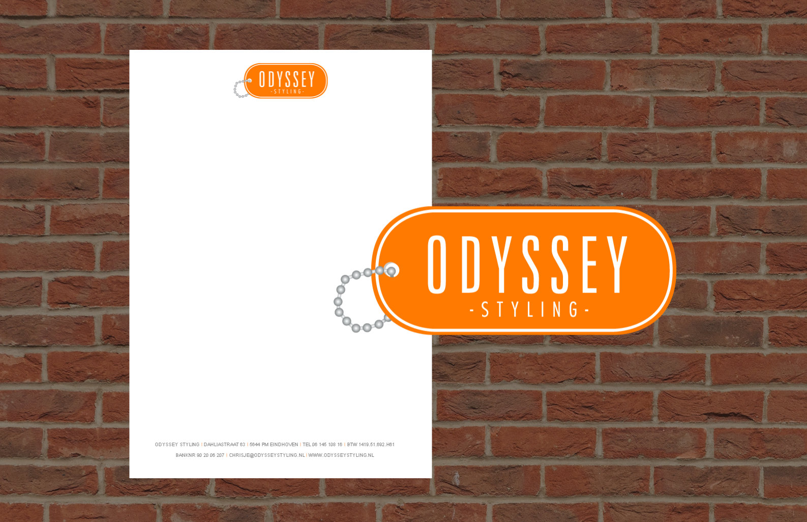 Odyssey styling briefpapier