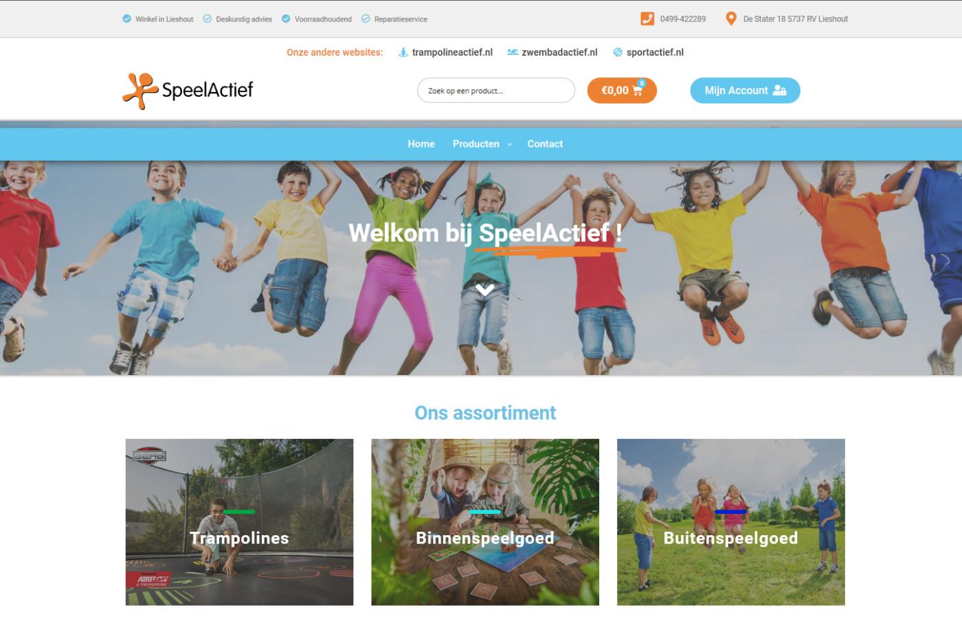 SpeelActief-Homepage